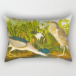 Night Heron, or Qua bird Rectangular Pillow