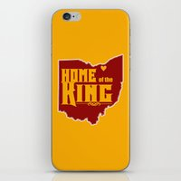 lebron iPhone & iPod Skins featuring Home of the King (Yellow) by Denise Zavagno