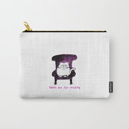 Hands are for Stroking (Pink) Carry-All Pouch