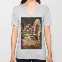 her light stretches Unisex V-Neck