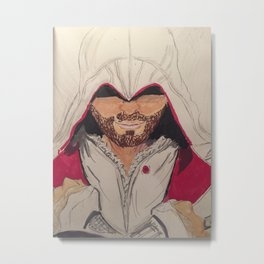 Assassin's Creed- Ezio Print Metal Print