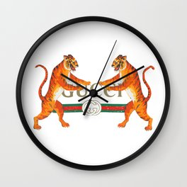 GucciLogo With Tigers Wall Clock