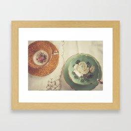 Two Teacups Framed Art Print