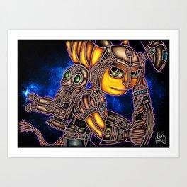 Metallic Duo Art Print