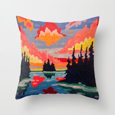 Northern Sunset Surreal  Throw Pillow