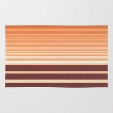 Ombre Horizontal Sienna and Orange Stripes Rug