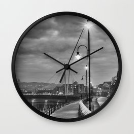 Early Winter evening St. George's Quay, Lancaster Wall Clock