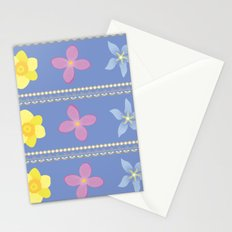 Spring Flowers Pattern [BLUE] Stationery Cards