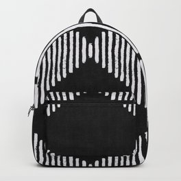 Diamond Stripe Geometric Block Print in Black and White Backpack