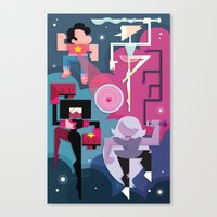 steven universe Canvas Prints featuring Steven Universe by Michelle McCammon