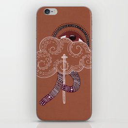 surreal creatue with cloud mask iPhone Skin
