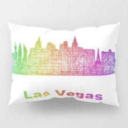 Rainbow Las Vegas skyline Pillow Sham
