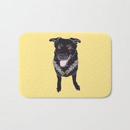 Happy Black Lab Dog Bath Mat