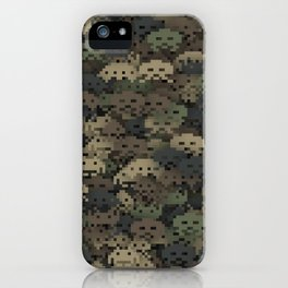 Invaders camouflage iPhone Case
