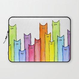 Nursery-Art-Print-Cat-Rainbow-Whimsical-Animals Laptop Sleeve