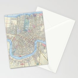 New Orleans Vintage Map Stationery Cards
