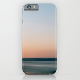Soft summer sunset at the beach    ocean sea coast shore nature landscape calm surf photo digital art print    Color travel photography from Europe iPhone Case