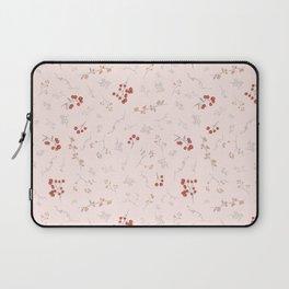 Blush pink orange red watercolor autumn floral berries Laptop Sleeve