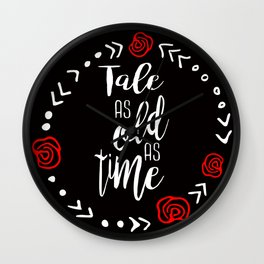 Beauty and the Beast: Tale as Old as Time Wall Clock