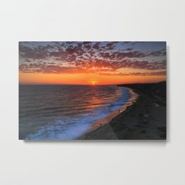 Sunset @ Crystal Cove Metal Print