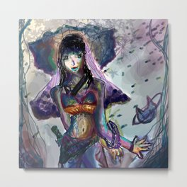 Girl Touch Metal Print