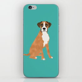 Boxer dog breed gifts for pure breed boxer dog lovers iPhone Skin