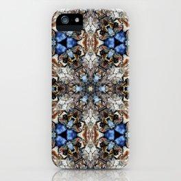 River Birch bark with blue sky kaleidoscope iPhone Case