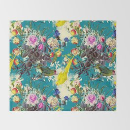 Tropical birds in the nature - 010 Throw Blanket