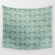 Art Nouveau Grunge Pattern Wall Tapestry
