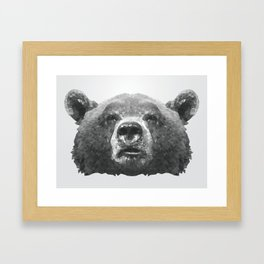 Grizzle Bear Framed Art Print