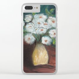Flores brancas (White flowers) Clear iPhone Case