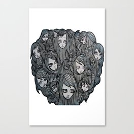 scalp sisters white bkgr Canvas Print