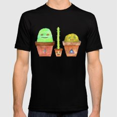 Magic Cacti Black Mens Fitted Tee MEDIUM