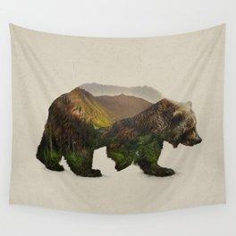 North American Brown Bear Wall Tapestry