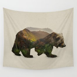 North American Brown Bear Wall Tapestry