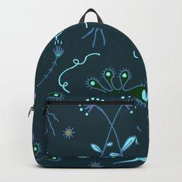 Blue Flora of Planet Hinterland Backpack