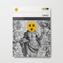OMG! (MetaBook) Metal Print