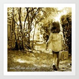 Angel of Hope & Lily Gold Art Print