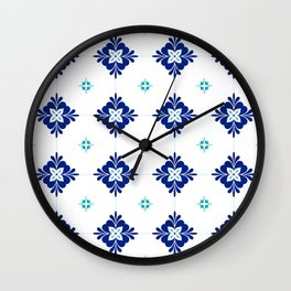 blue morrocan dream no3 Wall Clock