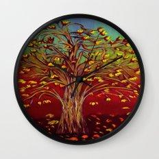 Abstract Fall tree Wall Clock