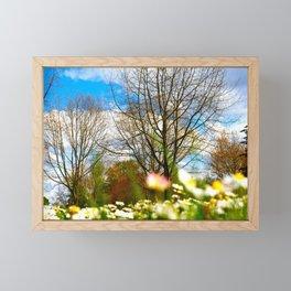 meadow in bloom Framed Mini Art Print