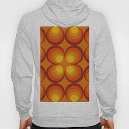 70s Circle Design - Orange Background Hoody