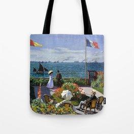 12,000pixel-500dpi - Claude Monet - Terrace in Sainte-Adresse - Digital Remastered Edition Tote Bag