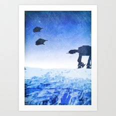 Empire Strikes Back Minimalist Design Art Print
