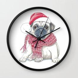Charming pug puppy Wall Clock
