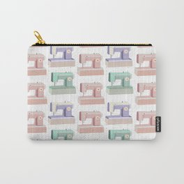 Retro Sewing Machine Pink, Mint and Lavender Carry-All Pouch