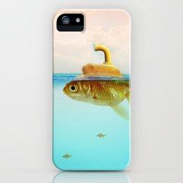 Submarine Goldfish iPhone Case