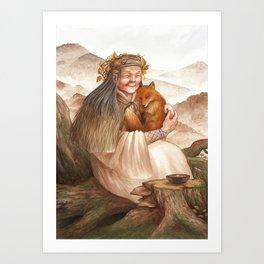 Hotaru ~ A Compendium Of Witches Art Print