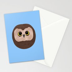 Chubby Little Owl Stationery Cards