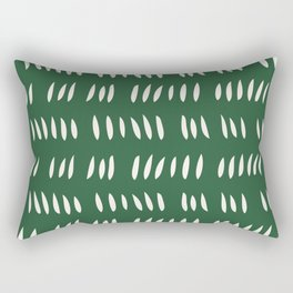 MATISSE ABSTRACT CUTOUTS . FOREST WHITE Rectangular Pillow